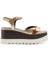 Sandales à plateforme en toileStella McCartney X874b9
