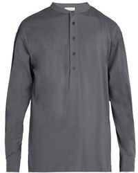 Lemaire - Henley Long Sleeved Cotton T Shirt - Lyst