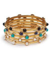 Sylvia Toledano - Stone Embellished Bangle Set - Lyst