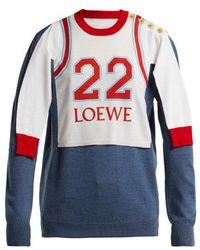 Loewe - Logo-print Varsity Sweatshirt - Lyst