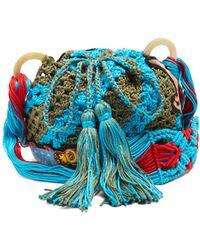 Peter Pilotto - Dinosaur-appliqué Crochet-cotton Shoulder Bag - Lyst