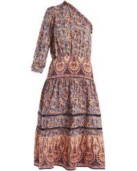 Sea - Asymmetric Silk-crepe Dress - Lyst