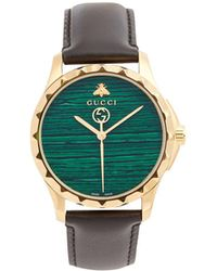 Gucci - Gg-timeless Green-stone Watch - Lyst