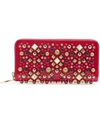 Christian Louboutin - Panettone Patent Pink Wallet - Lyst