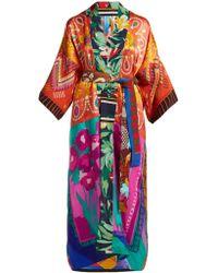 Rianna + Nina - Vintage Patchwork Silk Kimono Jacket - Lyst