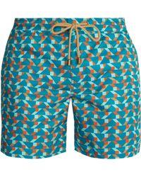 Thorsun - Titan Fit Blocks Print Swim Shorts - Lyst