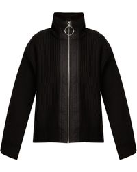 Paco Rabanne - Ribbed Knit Wool Jacket - Lyst