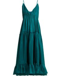 Loup Charmant - Carino Tiered Silk Midi Dress - Lyst