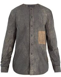 By Walid - Collarless Abstract-print Cotton-blend Shirt - Lyst