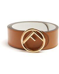 Fendi | Logo Reversible Leather Belt | Lyst