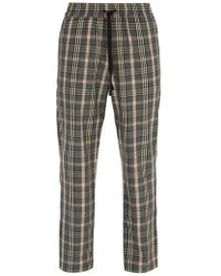 Barena - Checked Straight-leg Woven Trousers - Lyst