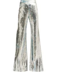 Halpern - Foil Pleated Flared Trousers - Lyst