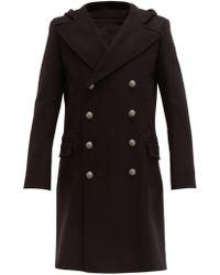 Balmain - Manteau en laine mélangée à double boutonnage - Lyst