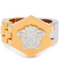Versace - Medusa Band And Bracelet-link Ring - Lyst