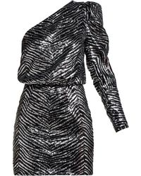 Alexandre Vauthier - Striped Sequined Mini Dress - Lyst