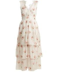 Daphne Floral-Print Silk-Charmeuse DressBrock Collection