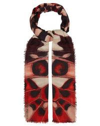 Alexander McQueen - Butterfly-print Modal And Wool-blend Scarf - Lyst