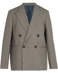 Wooyoungmi - Prince Of Wales Checked Wool Blazer - Lyst