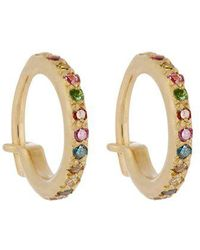 Ileana Makri - Diamond, Semi-precious Stone & Gold Earrings - Lyst
