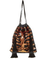 Attico - Tiger Sequined Pouch - Lyst