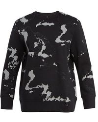 Neil Barrett - Globe-print Jersey Sweatshirt - Lyst