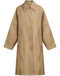 MM6 by Maison Martin Margiela - Oversized A Line Cotton Coat - Lyst