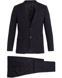 Paul Smith - Windowpane-checked Wool Suit - Lyst