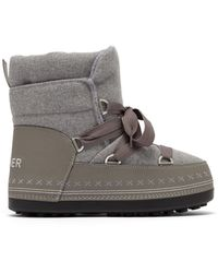 Bogner - Trois Vallées Felt Boots In Grey - Lyst
