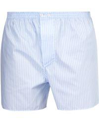 Zimmerli - Striped Cotton Boxer Shorts - Lyst