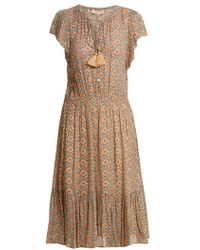 Vanessa Bruno - Floral-print Tassel Tie-front Dress - Lyst