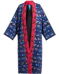 Rianna + Nina - Greek Print Neoprene Kimono Jacket - Lyst
