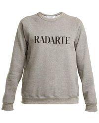 Rodarte - Logo-print Cotton-blend Sweatshirt - Lyst