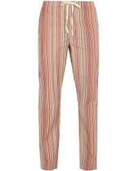 Paul Smith - Striped Cotton Pyjama Trousers - Lyst