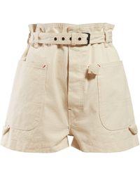 Isabel Marant Ike Paperbag Waist Cotton Shorts