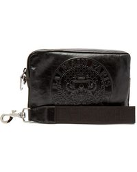Balmain - Logo Embossed Leather Camera Pouch - Lyst