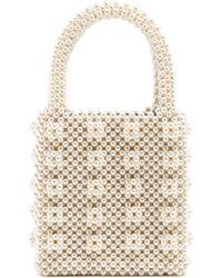 Shrimps - Antonia Faux Pearl Embellished Bag - Lyst