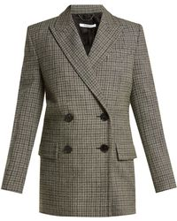 Givenchy - Double Breasted Checked Wool Blazer - Lyst