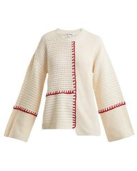 Elizabeth and James - Lois Contrast-knit Cotton Jumper - Lyst