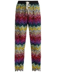 Ashish - Striped Sequin-embellished Cotton Track Trousers - Lyst