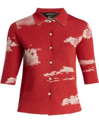 Undercover - Cloud Print Reversible Wool Shirt - Lyst
