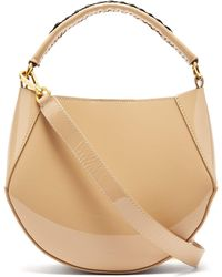 Wandler Corsa Mini Patent Leather Tote - Natural