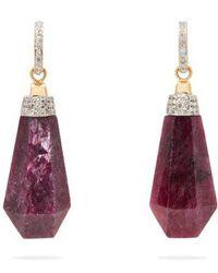 Jade Jagger - - Never Ending Ruby Diamond Drop Earrings - Womens - Pink - Lyst