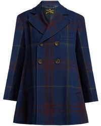 Vivienne Westwood Anglomania - Checked Cotton And Wool Blend Coat - Lyst