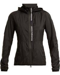Paco Rabanne - Nylon Hooded Logo Jacket - Lyst