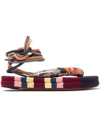 Isabel Marant - Elliam Ankle Tie Sandals - Lyst