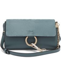 Chloé - Faye Small Leather And Suede Cross Body Bag - Lyst