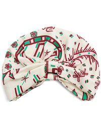 Valentino - Abstract Print Silk Twill Turban Hat - Lyst