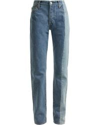 Vetements X Levi's Reworked Straight Leg Jeans