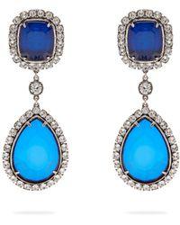 Balenciaga - Crystal Drop Earrings - Lyst