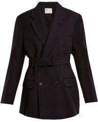 Toga - Double Breasted Wool Twill Jacket - Lyst